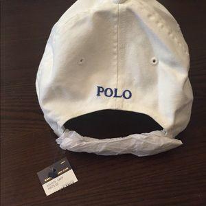 Polo by Ralph Lauren Accessories - RL Polo Ballcap- White Cream with Blue  Horse 9aba16d4dc1b